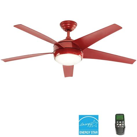 amazon ceiling fans with remote home decorators collection windward iv 52 in indoor red