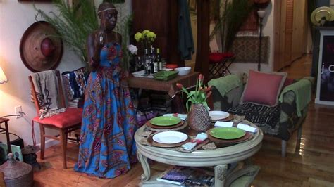 afrocentric home decor how to set up a table for a small gathering afrocentric
