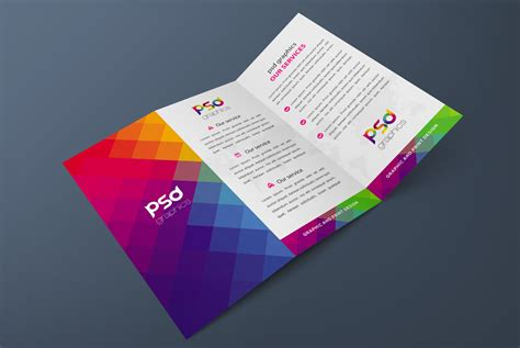 download free tri fold brochure mockup free psd graphics