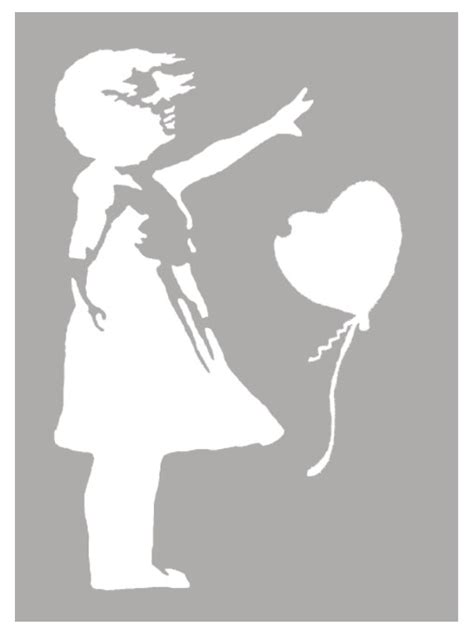 banksy balloon girl stencil life size