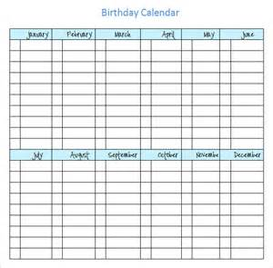free birthday calendar template excel sle birthday calendar template 13 documents in pdf