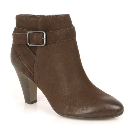 isadora brown leather ankle boot