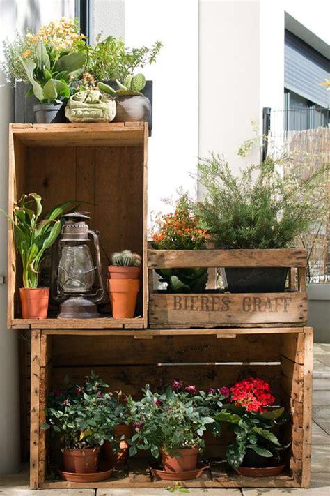 cassetta con decorare il giardino con le cassette di legno 20 idee