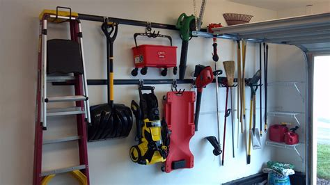Fasttrack Garage Organization System Garage Organizing Rubbermaid Fast Track Wall System Done Images Frompo