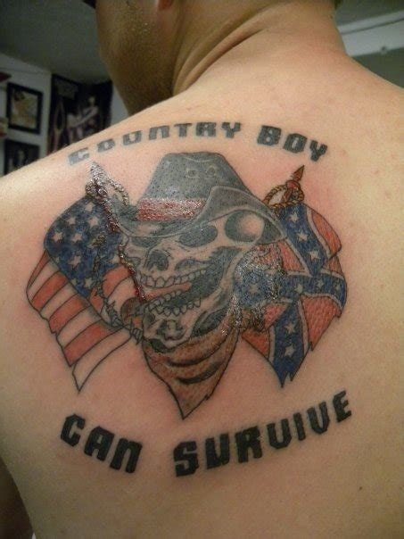 country tattoos for guys country boy can survive on