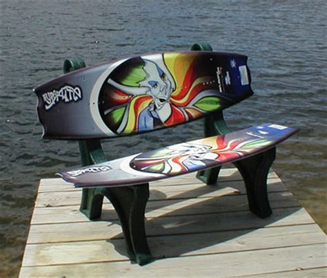 wakeboard bench wakeboard furniture