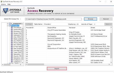 format file mdb simple access recovery tool working steps