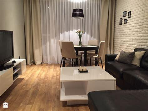 teppiche 3mx3m mieszkanie 47m2 mały salon z jadalnią styl