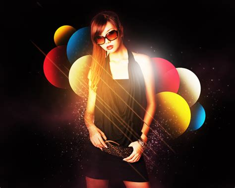 tutorial photoshop cs5 how to stylise model shoot using colourful shapes in