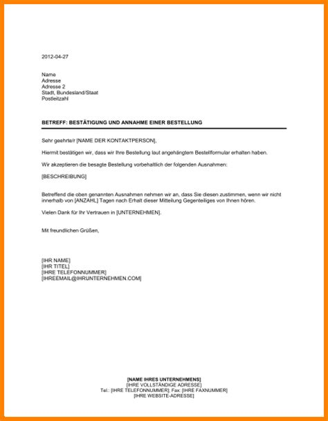 Angebot Bestellung Muster 8 Bestellung Schreiben Muster Lesson Templated