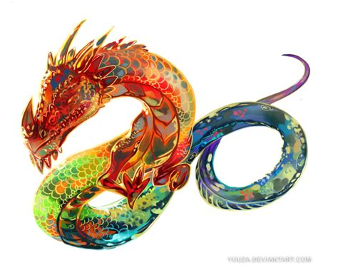 tattoo color png rainbow dragon tattoo art by yuuza on deviantart