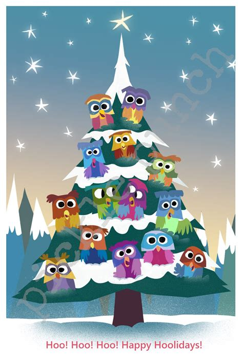 christmas owl pictures owl card owl card owl tree pickle punch