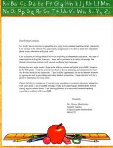 Student teacher letters to parents new calendar template site
