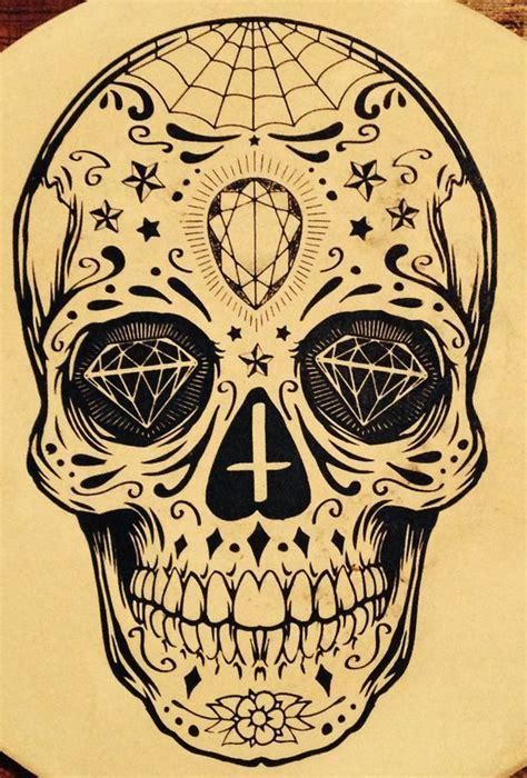 tattoo flash skulls sugar skull tattoo me pinterest tattoo sun diamond
