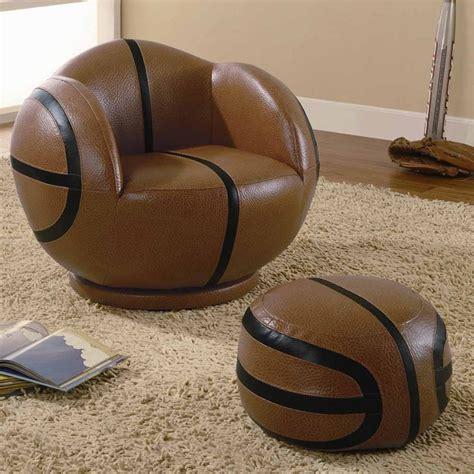 basketball chair and ottoman small basketball chair and ottoman by coaster 460176