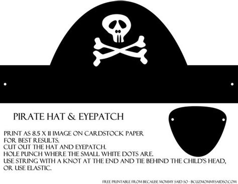 Patch Template by Pirate Hats And Eye Patches On
