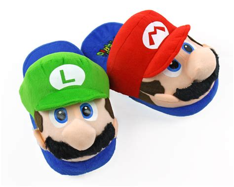 mario brothers slippers mario and luigi slippers nintendo slippers mario
