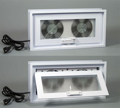 window fan with louvers basement ventilation fans tjernlund x2d xchanger basement