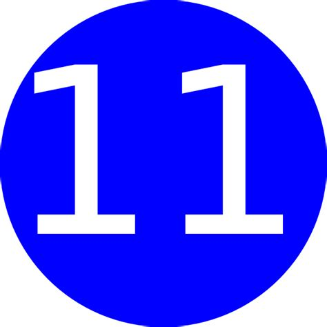 number 11 blue background clip art at clker com vector