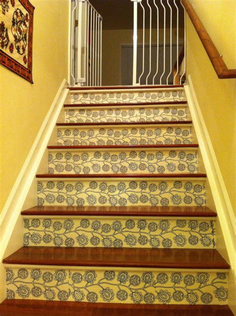 stair risers  decals modern staircase