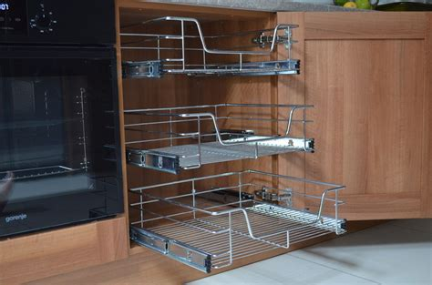 wire slide out shelves for kitchen cabinets pull out wire basket for kitchen cabinet base unit larder