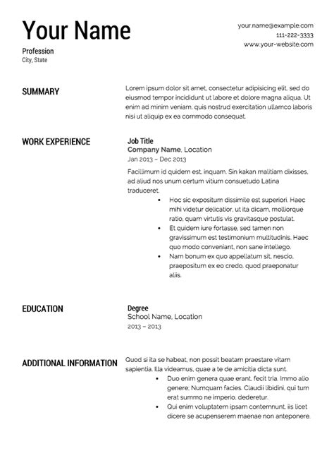 free sle professional resume format free resume templates from resume