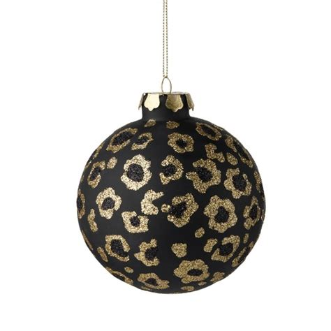 leopard print christmas ornaments invitation template
