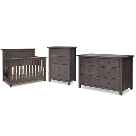rustic gray baby dresser serta 174 northbrook nursery furniture collection in rustic