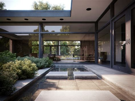 casa a patio courtyard house casa patio philip johnson iispaces