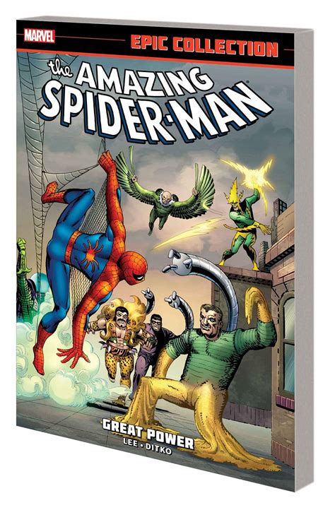 libro amazing spider man epic collection amazing spider man epic collection great power fresh comics