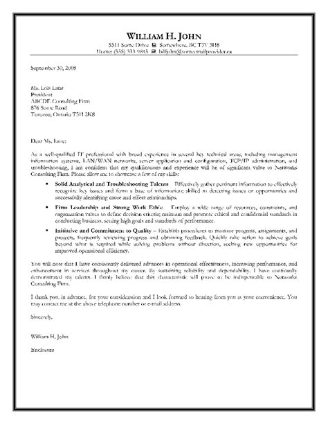 Cover Letter For Report by Information Technology Cover Letter Exles The Letter Sle