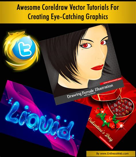 tutorial design poster corel draw awesome coreldraw vector tutorials for creating eye