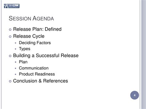software release management plan template planning session agenda images