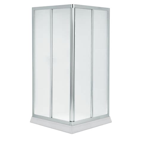 Shop Sterling 39 9375 In W X 72 In H Silver Neo Angle Sterling Neo Angle Shower Door