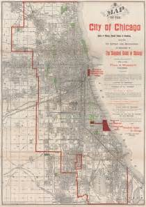 map of usa showing chicago map of the city of chicago state of illinois united