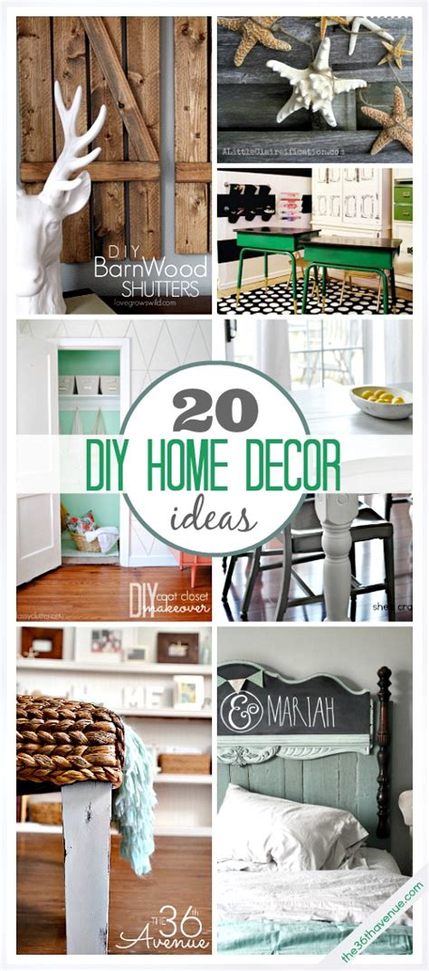 diy home ideas 20 diy home decor ideas the 36th avenue
