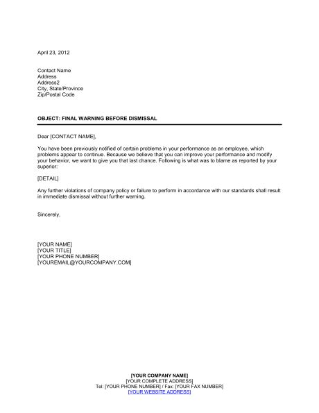 Recommendation Letter For Awol Employee Sle Warning Letter For Awol Just B Cause