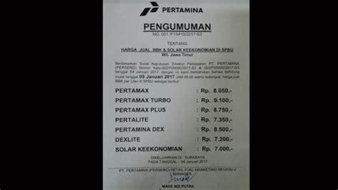 Minyak Pertalite harga bbm non subsidi kembali naik mulai hari ini rp 300
