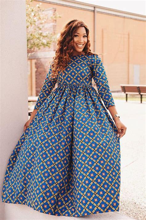 Simple Ankara Maternity Dress