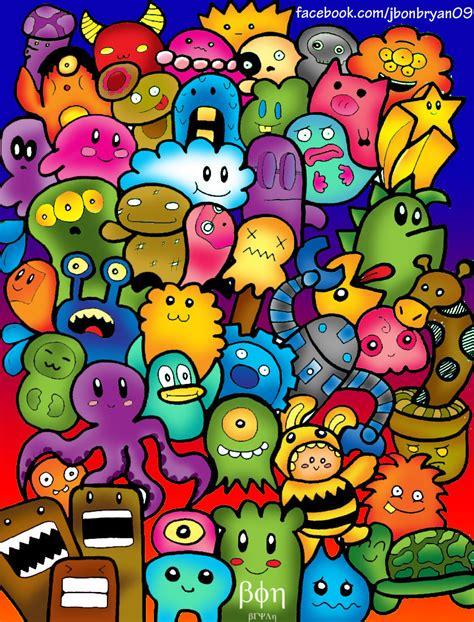 doodle yt doodle monsters colored by bon09 on deviantart