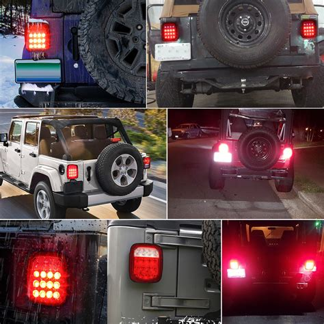 led tail lights turn signal rubicon offroad    jeep