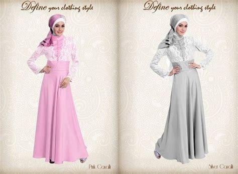 Model Gaun Gamis 15 model baju gamis muslim pesta terbaru 2015