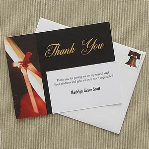 personalized graduation thank you cards diploma graduation gifts