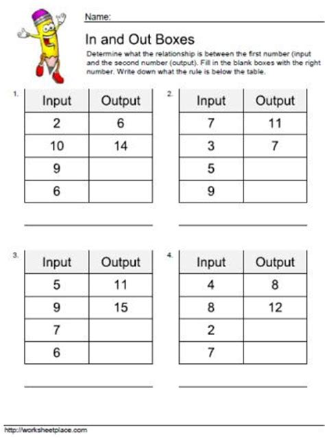 input output tables worksheet function tables input output worksheet free worksheets