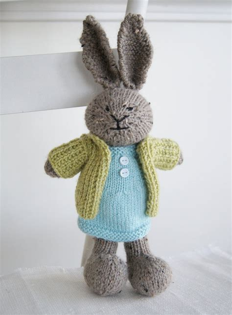 knitted stuffed animals knitted plush bunny quot quot knit rabbit