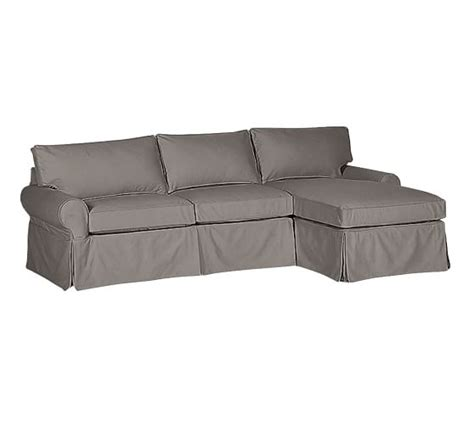 slipcovered sofa with chaise sale pb basic slipcovered sofa with chaise sectional