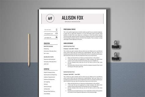 resume template  page manager resume templates