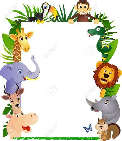 safari cartoon 6765986 funny cartoon animal frame stock vector animals