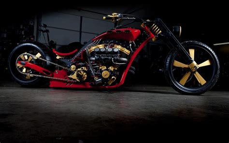 gold motorcycle custom chopper motorcycle gold and moto bike