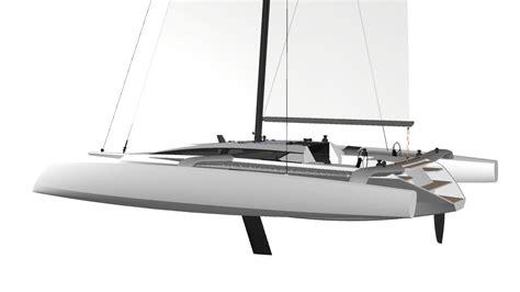 trimaran kit boat tr52 performance trimaran grainger designs multihull yachts